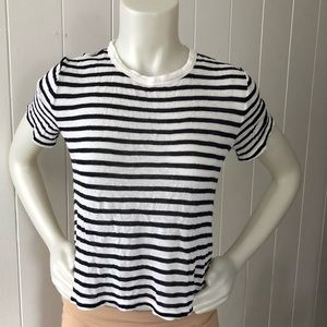 T Alexander Wang Striped  Crop Top Shirt